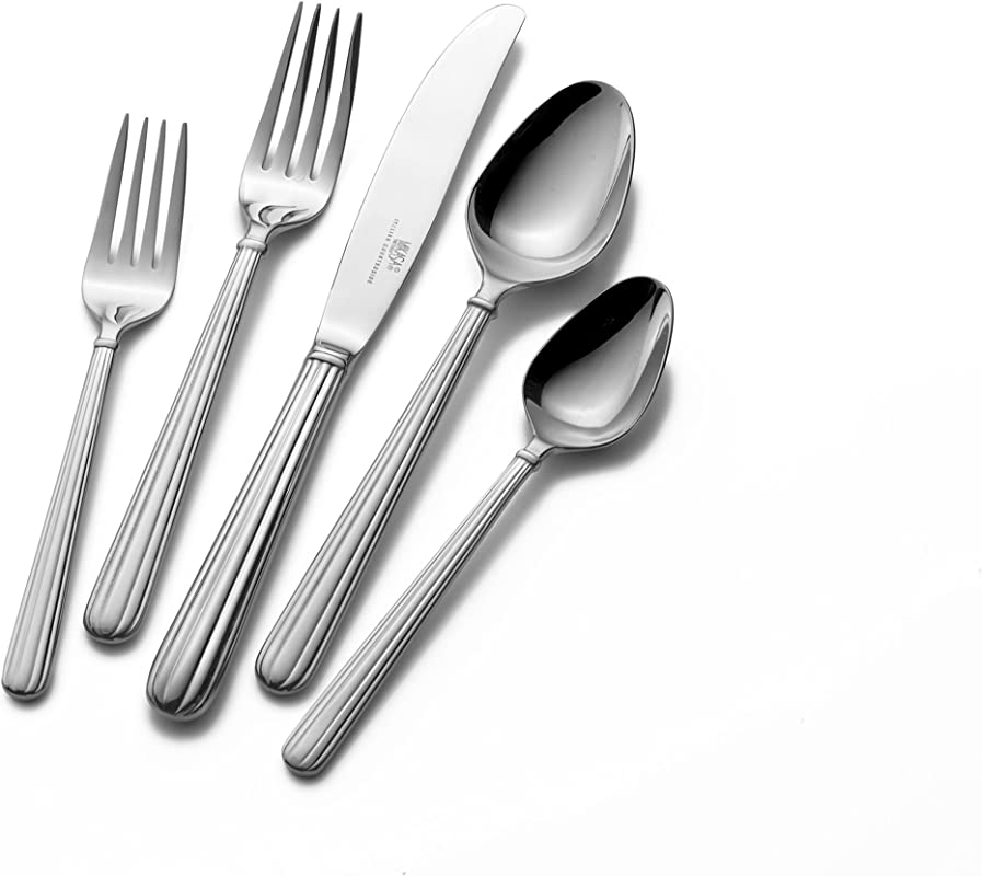 Mikasa Italian Countryside 45 Piece 18 10 Stainless Steel Flatware Set Service For 8