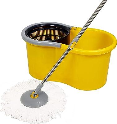 Esquire(EE1YL) Elegant Microfiber 360° Spin Yellow Bucket Mop Set