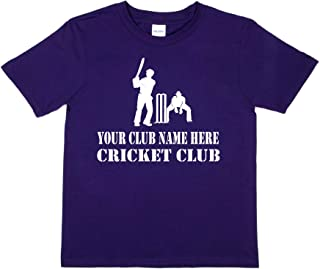 Print4u Personalised T-Shirt Your Club Name Here Cricket