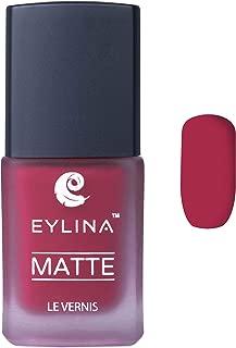 EYLINA Matte Nail Polish, Jet Red, 9ml