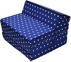 Best For Kids Barnfåtölj sängfåtölj funktionsfält ungdom barnmadrass att sova och leka 3-i-1 (stjärnor)