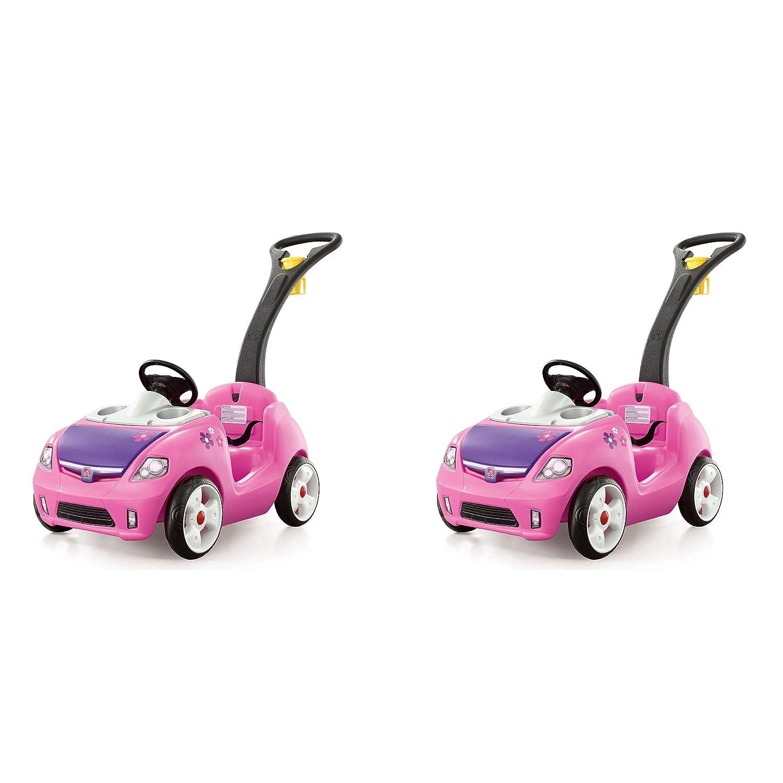 Step2 幼児 子供 Whisper Ride On II クルーザー 車 バギー プッシュプルトイ ピンク (2個パック)