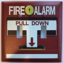 PP4U Novelty Printed Fake Fire Alarm Printed Light Switch Cover - Double Switch