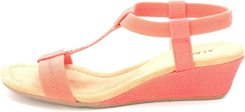 Alfani Womens Vacay Open Toe Casual T-Strap Sandals