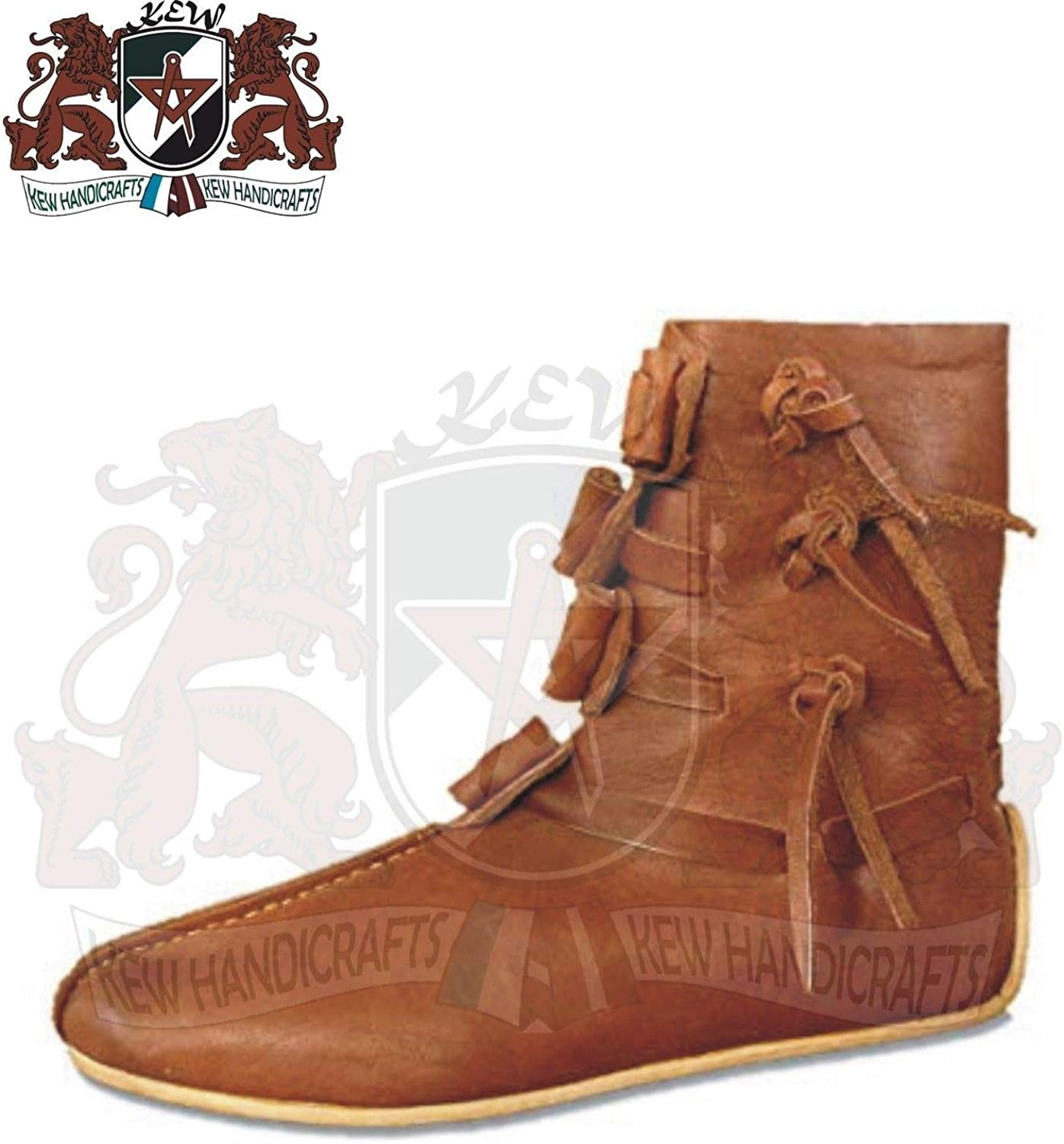 GLOBALEXPORTSHUB Medieval Leather Boots, Ancient shoes Warrior Renaissance Re-Enactment Roman mn