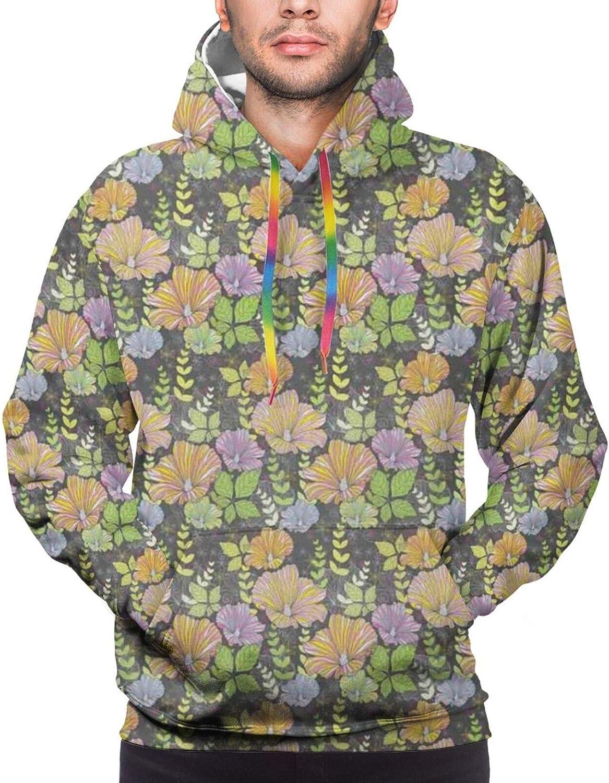 Men's Hoodies Sweatshirts,Abstract Bold Spiral Motifs Circled Modern Pattern with Stripe Details