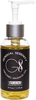 Best All Natural - Organic Massage Oil and Personal Lubricant for Men & Women, Premium Oils for Sensitive Skin, Moisturizing & Soothing. Home Size 4 fl oz