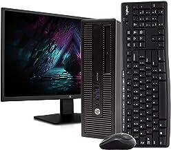 "HP ProDesk 600 G1 SFF Desktop Computer PC, Intel i5-4590, 4GB RAM, 500GB Hard Drive, Windows 10 Home, New 23.6"" FHD V7 LED..."
