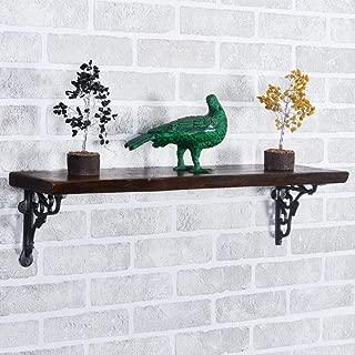 STARTA FURNITURE Handmade Sheesham Wood Decorative Wall Floating Shelf with Victorian Bracket