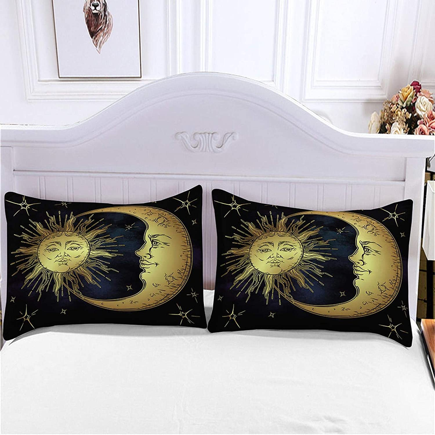 HKDGHTHJ 3D Bedding is Super Soft Golden Sun Jacksonville Mall Comfortable New mail order and Moo