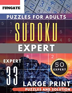 Sudoku Expert Puzzles for Adults Large Print: FunGate Activity Book Junior | SUDOKU Extreme Difficult Quiz for Expert (Sudoku Maths Book Seniors) (Sudoku Maths Book Large Print)