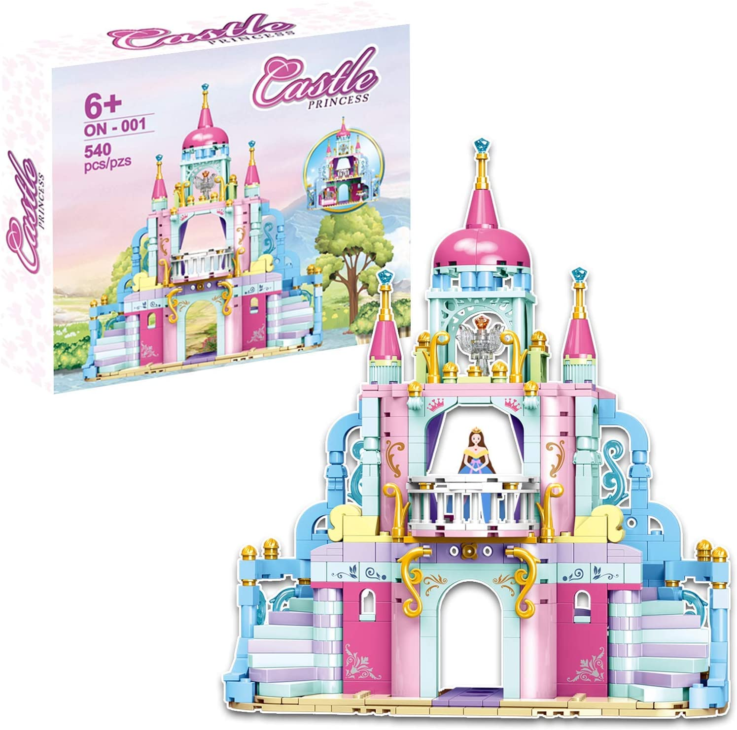 540 Pcs STEM Fun Princess Tower,Makes a Great Birthday for Kids who Loved Castle,Education Construction Building Bricks for Girls Age 6 7 8 9 10 and Up