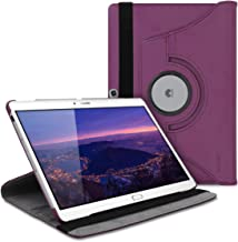 kwmobile 360° Case Compatible with Huawei MediaPad M2 10.0 - PU Leather Tablet Cover with Stand Function - Violet