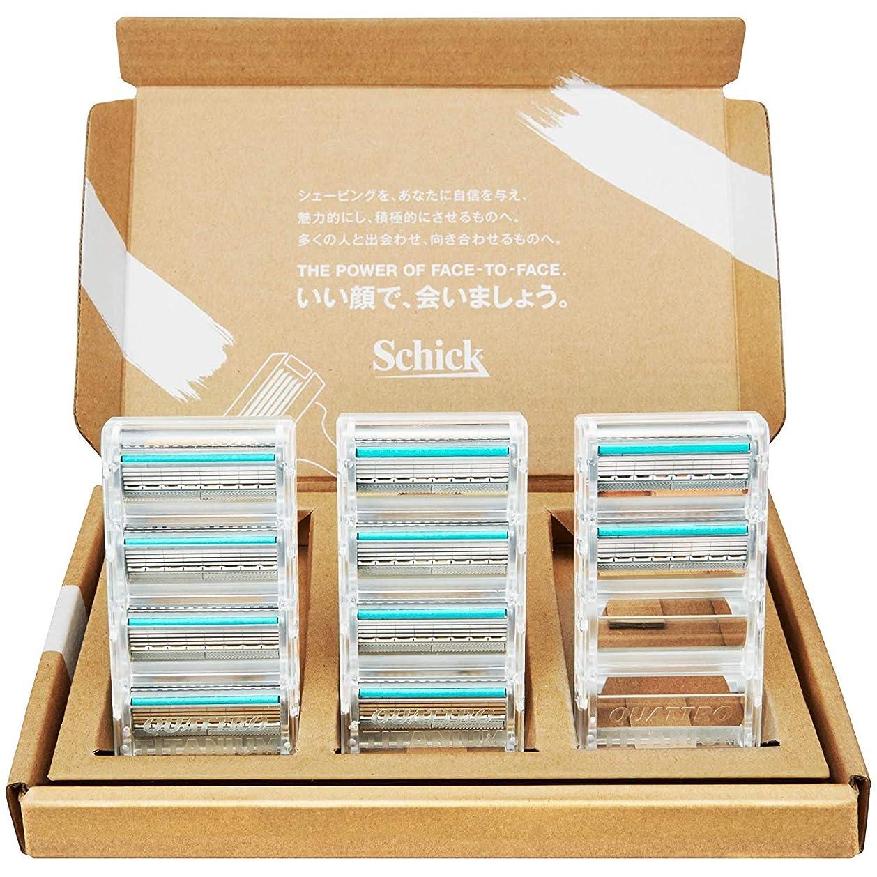 排泄物学士専門【Amazon.co.jp 限定】シック クアトロ4 チタニウム 替刃 10コ入