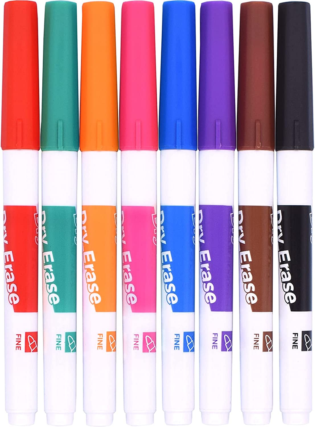 TWOHANDS Dry Erase Markers Low Odor Tip Fine Complete Free Shipping Whi Very popular Assorted Colors