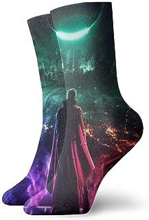 LREFON, Calcetines de compresión Doctor Strange Socks Crew Divertido Casual Unisex Impresión Tobillo Calcetín Deportivo