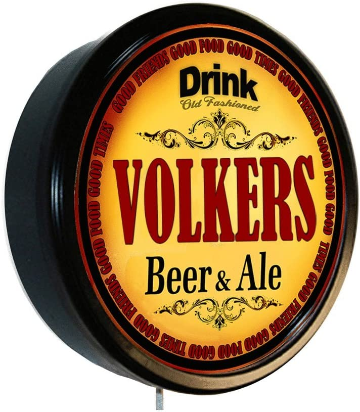 Goldenoldiesclocks Wholesale VOLKERS Beer and Ale Lighted Sig Quality inspection Wall Cerveza