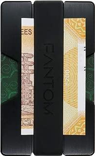 VISHSTORE Aluminium Slim Fantom RFID Blocking Money Clip Band Black Wallet