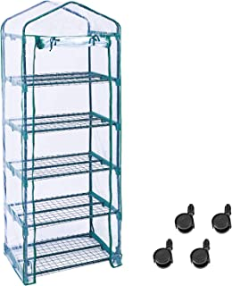 Worth 5 Tier Greenhouse, Portable Garden House with Wheels, Sturdy Shelves - Grow Plants for Indoor/Outdoor