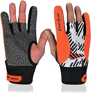 专业防滑保龄球手套舒适保龄球配件半指仪器运动手套用于保龄球