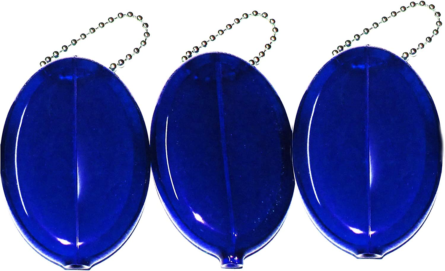 3 Blue Coin Purses - Made in USA