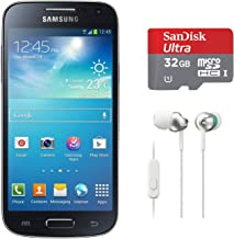 Samsung Galaxy S4 Mini GT-I9192 GSM Unlocked Dual Sim (Black) with Sony StepUp EX In-Earbuds and Ultra 32GB MicroSD Card