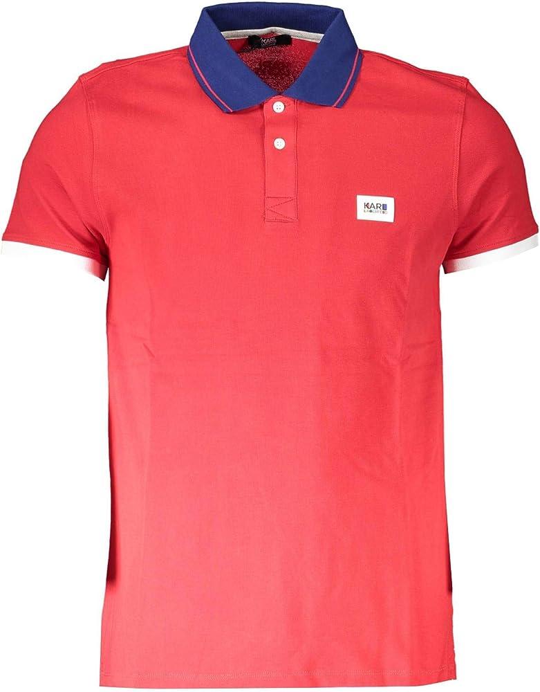 Karl lagerfeld polo basic,maglietta da uomo,95% cotone,5% elastan KL20MPL01