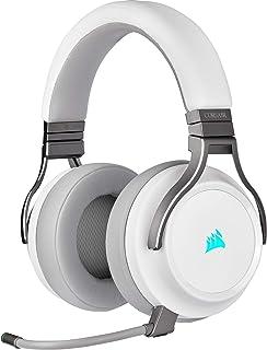 Corsair VIRTUOSO RGB WIRELESS, Auriculares para Juegos de Alta Fidelidad, Envolvente e Inmersivo 7.1, Micrófono Extraíble ...