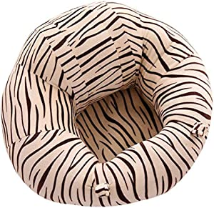 Fengbingl-bb Baby Support Sofa Toldder Infant Learn Sitting Sofa Chair Baby Safety Support Floor Seat Sofa Zebra Pattern Baby Plush Pillow Cushion Toys Gift Couch Bed Furniture Baby Sitting Chair