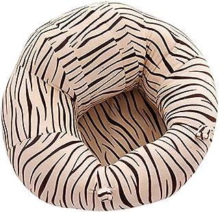 Muebles para niños pequeños Toldder Infant Learn Sitting Sofá Silla Silla de seguridad for bebés Asiento en el piso Sofá Patrón de cebra Cojín de almohada de felpa for bebé Asiento de apoyo para bebés
