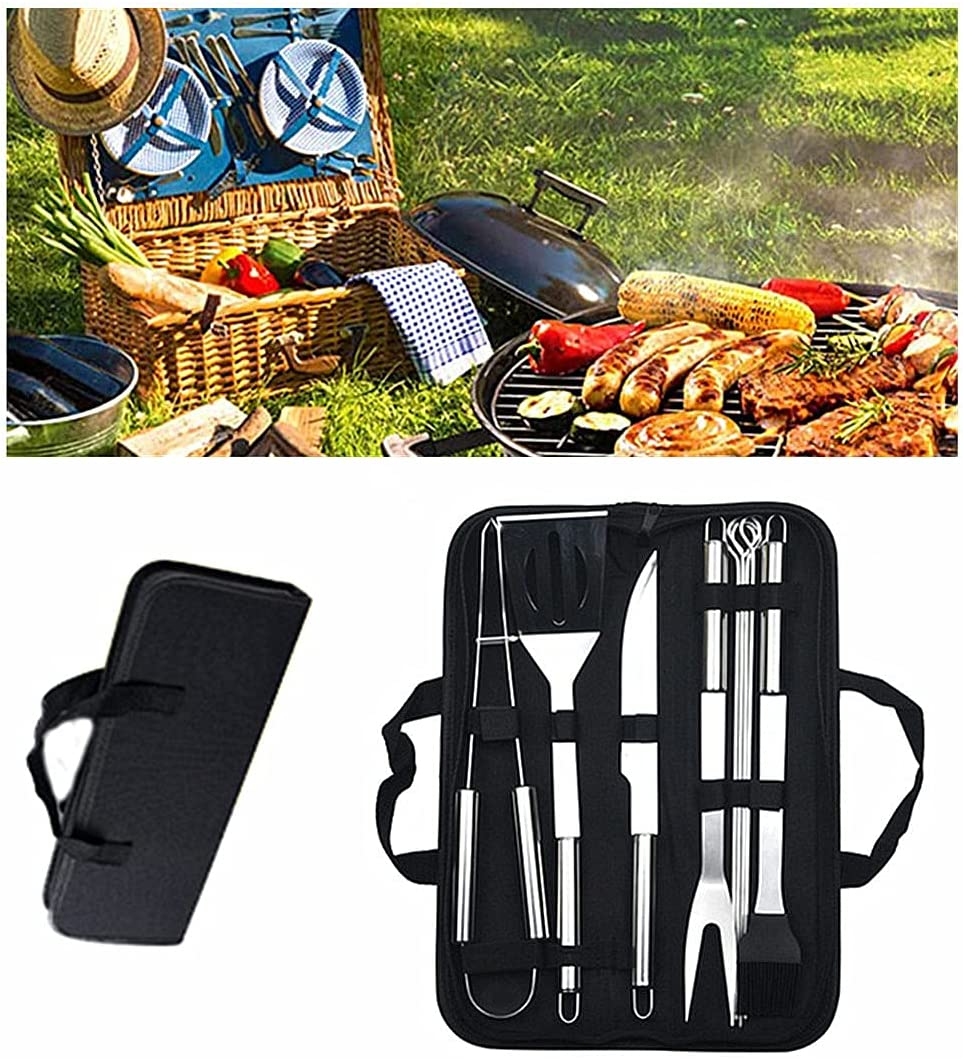QWEF Grilling Accessories for Direct sale Be super welcome of manufacturer Outdoor Tools Grill Set Stain 9PCS