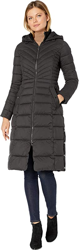 EcoPlume Soft Touch Maxi Packable Puffer Parka