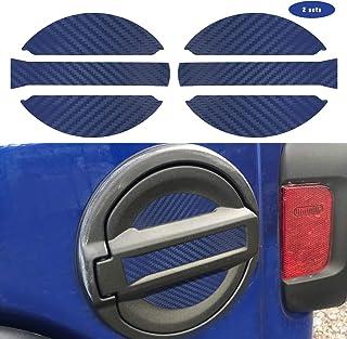 ملصق غطاء وقود لجهاز JL Jeep Wrangler 2018 UP ملصق لتزيين غطاء رأس الغاز للملحقات الخارجية JL (أزرق اللون)