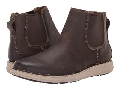Clarks Un Larvik Up (Brown Oily Leather) Men