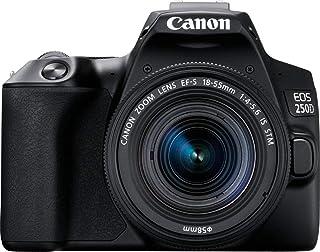 Canon EOS 250D Cámara Réflex 24.1 MP (4K WiFi Bluetooth + Objetivo EF-s 15-55mm + Bolsa + SD 16GB) Tamaño Único Negro