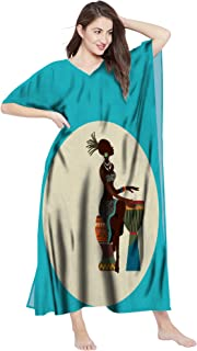 RADANYA Cotton Loose Maxi African Dashiki Caftans for Women