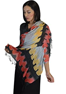 Moroccan Shoulder Shawl Breathable Cotton Oblong Head Scarf Silky Soft Exquisite Wrap