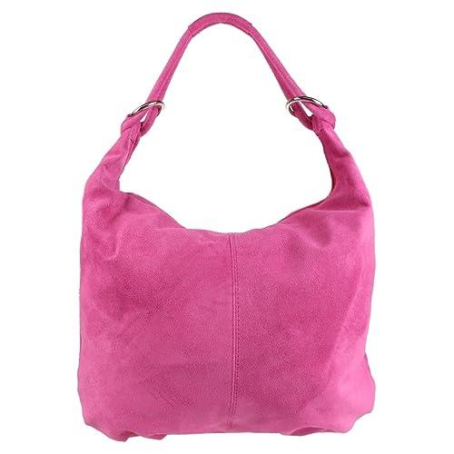 66a322fd3d Craze London Italian Genuine Suede Real Leather Shoulder Bag Hobo Slouch  Designer Handbag