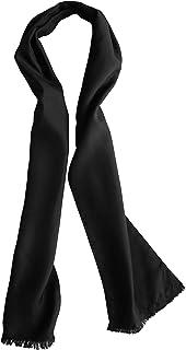 "Dashing Black Silk Aviator Scarf by Royal Silk – Pure 100% Silk – 8"" x 60"""