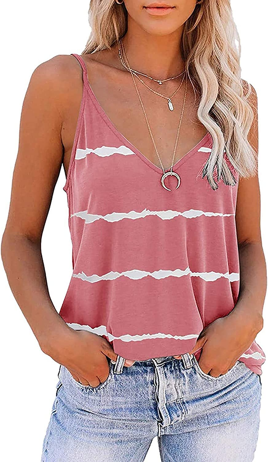 felwors Tank Tops for Women, Womens Fashion Casual Summer Sleeveless Vacation Graphic Vest Tops Tee Shirts Blouse Tops