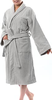 Blair Womens Cotton Terry Cloth Bathrobe Shawl Collar Velour Spa Robe