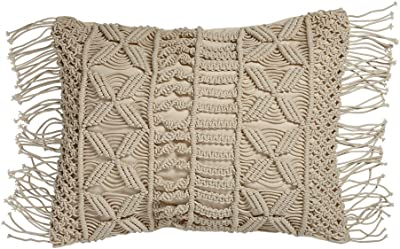 Deep Green Cotton Knitted Decorative Pillow Cable Knitting Patterns Rectangle Warm Throw Pillows with Buttons 14x25inch