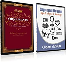 Sign Clipart, Design Elements, Scrolls, Floral, Flourishes, Ornamental Panels + Frames Vinyl Cutter Plotter Vector Clip Art Images, Graphics on CD [includes Sign & Design as a FREE Bonus a $59 value]