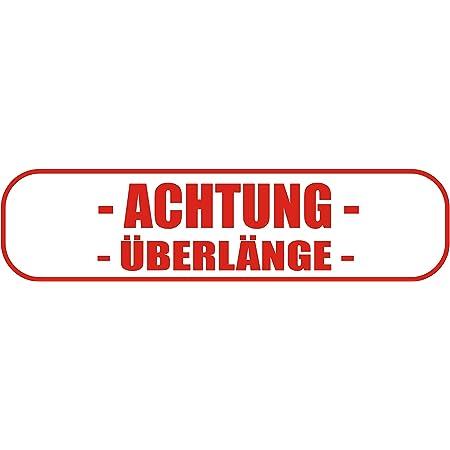 Indigos Ug Magnetschild Achtung ÜberlÄnge Mit Rahmen 30 X 8 Cm Magnetfolie Für Auto Lkw Truck Baustelle Firma Auto