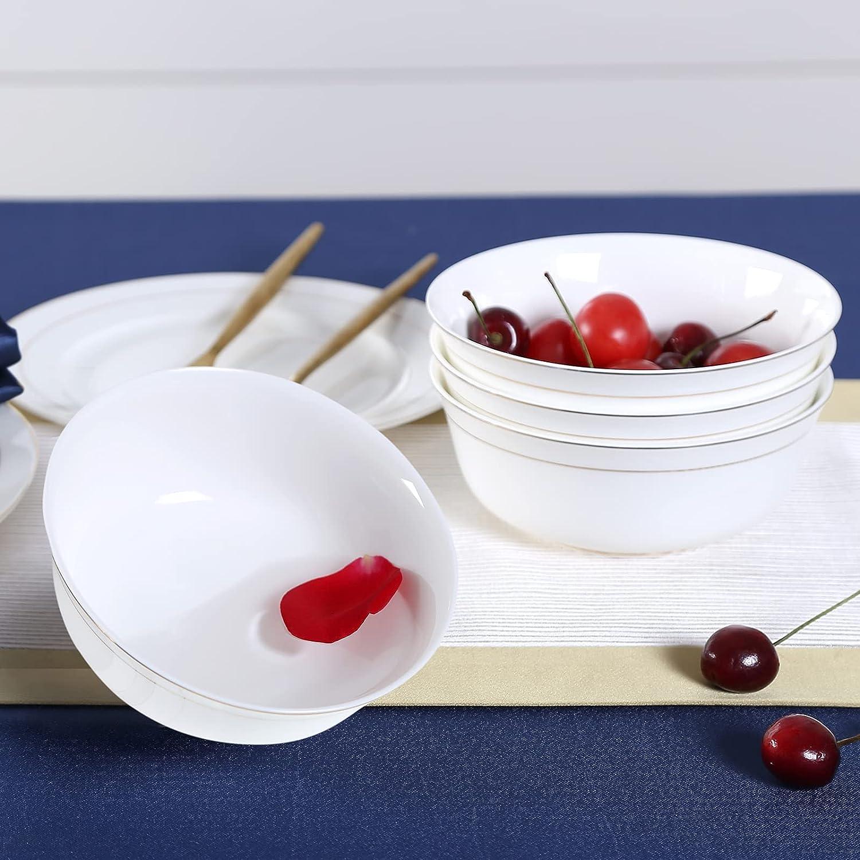 DUJUST 1st-Class Bone-china Cereal Bowls Gorgeous OZ Des Super sale Set Luxury 20