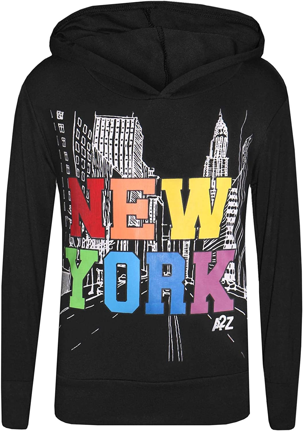 A2Z 4 Kids Girls Hooded Crop /& Bottom 2 Piece New York Print Trendy Crop Top Tees /& Fashion Legging Outfit Clothing Sets New Age 2 3 4 5 6 7 8 9 10 11 12 13 Years