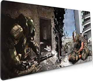 RewCio Call of Duty Gaming Mouse Pad, Soft Extra Extended Large Mouse Pad,Anti-Slip Rubber Base,Computer Keyboard Mouse Ma...