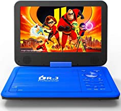 "DR. J 12.5"" Portable Car headrest Video Player, Region-Free Portable DVD Player 10.5"" HD Swivel Screen SYNC TV Remote Cont..."