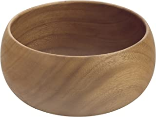 Pacific Merchants Acaciaware 10- by 4-Inch Acacia Wood Round Calabash Serving/Salad Bowl