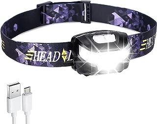 TECHVIDA USB charging head light T6 glare with red light mosquito repellent warning light Outdoor waterproof long-range ni...